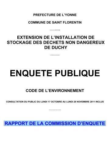 rapport - Préfecture de l'Yonne