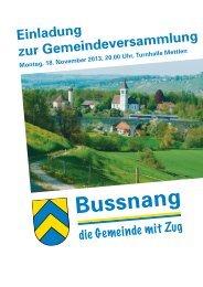 Budget 2014 Gemeindeversammlung - 18. November 2013
