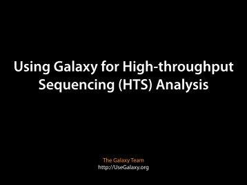 Using Galaxy for High-throughput Sequencing - Molecular Evolution