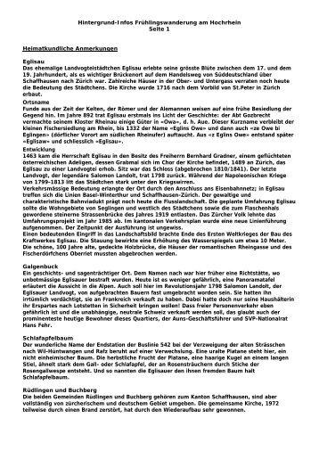 Hintergrund-Infos Frühlingswanderung am Hochrhein Seite 1 ...