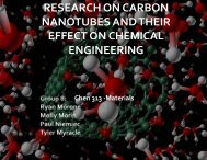 research on carbon nanotubes and their effect on - Artie McFerrin ...