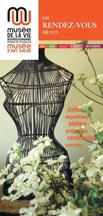 Rendez-vous Eté 2013 (PDF - 753 Ko) - Musées de Bourgogne