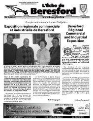 L'Écho de Beresford février 2012 - Canadamunicipal.ca