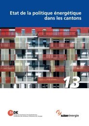 Etat de la politique énergétique dans les cantons - 2000-Watt ...