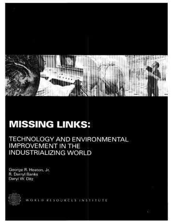 MISSING LINKS: - World Resources Institute