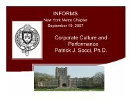Does corporate culture influence financial ... - INFORMS NY