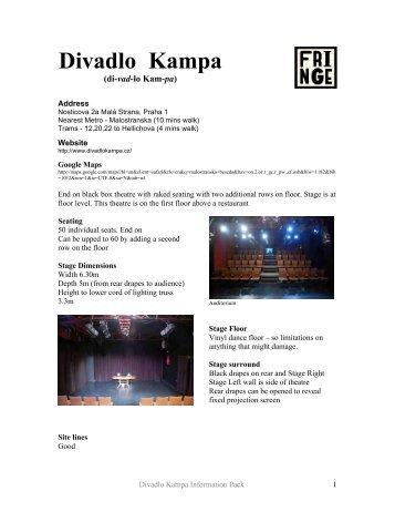 Divadlo Kampa 2012 venue pack - Prague Fringe Festival
