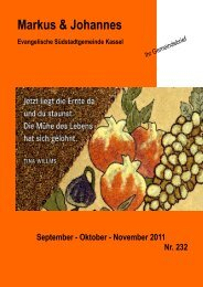 September - Oktober - November 2011 Nr. 232 - Evangelische ...