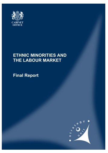 Ethnic minorities' labour market - Institute of Race Relations