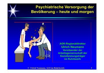 Psychiatrische Versorgung der Bevölkerung – heute und morgen