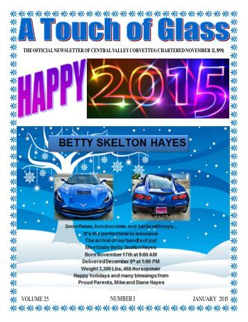 Central Valley Corvettes - January 2015 Newsletter
