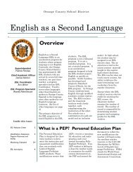 English as a Second Language - Orange County Schools