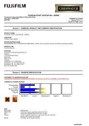 Chemwatch Australian MSDS 34-5284 - FUJIFILM Australia