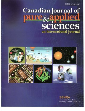 Jul-07 - Canadian Journal of Pure and Applied Sciences