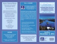 Call for Papers December 5, 2012 - University Council on Water ...