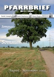 Download Pfarrbrief-2009-05.pdf - St. Joseph, Siemensstadt