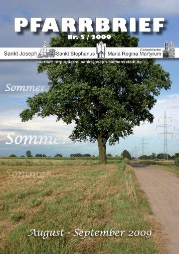 Download Pfarrbrief-2009-05.pdf - St. Joseph, Siemensstadt