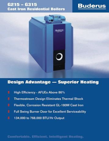 Design Advantage — Superior Heating G215 – G315