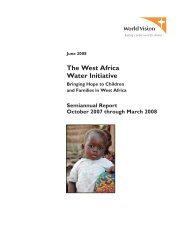The West Africa Water Initiative - World Vision