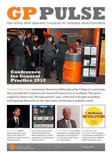 GP Pulse October 2012 Issue 17 - The Royal New Zealand College ...