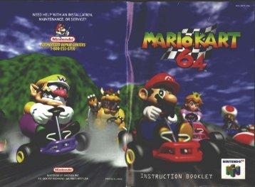 Mario Kart 64 - Nintendo N64 - Manual - gamesdbase.com