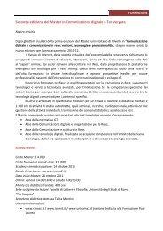 Seconda edizione del Master in Comunicazione digitale - Icomit.it
