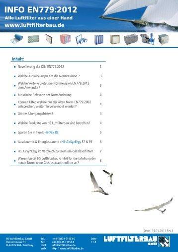 INFO EN779:2012 - HS Luftfilterbau GmbH