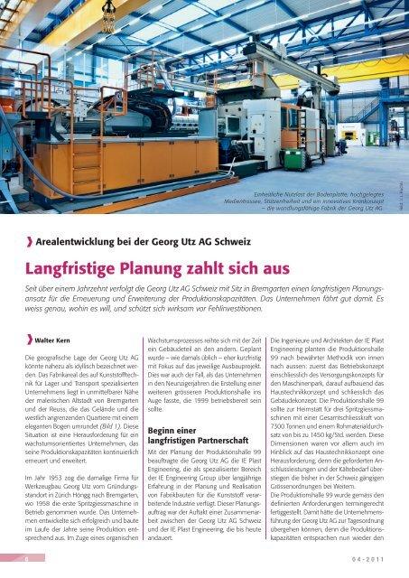Fachartikel KunststoffXtra 04/2011 - IE Engineering Group AG