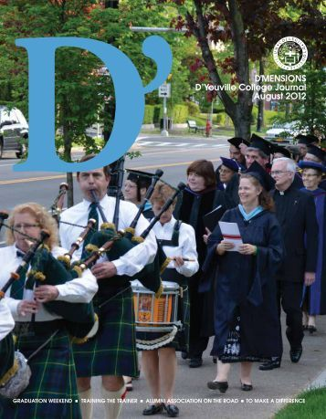 DL D'MENsIoNs D'youville College Journal August 2o12
