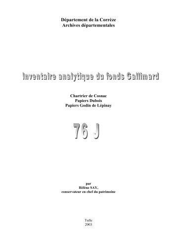 Fonds Cosnac-Griffolet .pdf - Archives départementales Corrèze