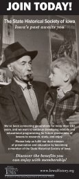 Membership brochure - front2012 - Iowa Department of Cultural Affairs
