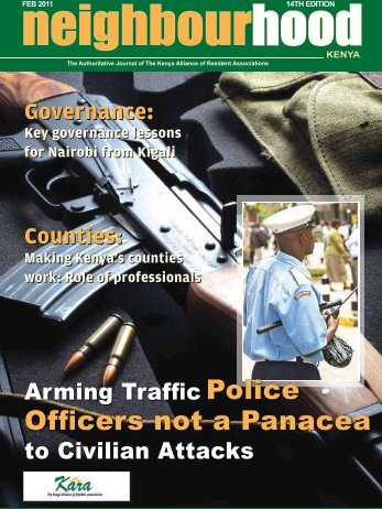Officers not a Panacea - The Kenya Alliance of Resident Associations
