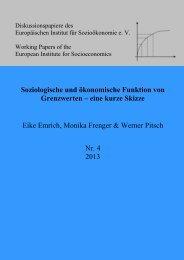 Emrich, Frenger & Pitsch Soziologische und ökonomische Funktion ...