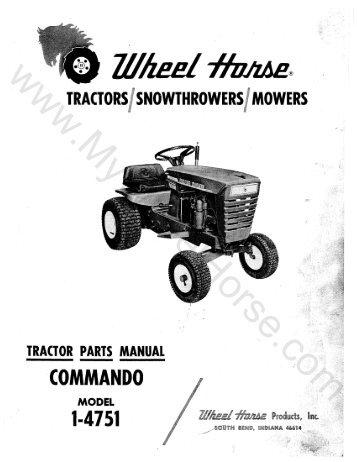 1958 Wheel Horse RJ58 Tractors t Tractors Wheel