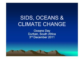 importance of oceans to sids