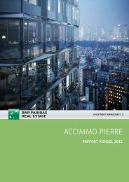 Rapport annuel - Accimmo Pierre - 2011 - BNP Paribas REIM