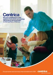 Download the 2003 Annual review PDF - Centrica