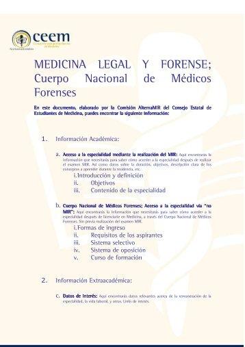 Medicina Legal y Forense - El Médico Interactivo