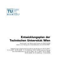 Entwicklungsplan der Technischen Universität Wien