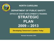 strategic plan 2009 – 2013 - North Carolina Department of Public ...