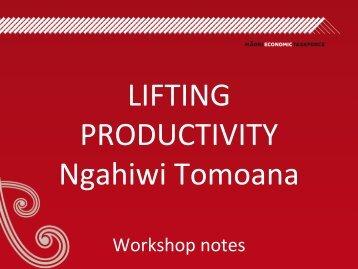 Lifting Productivity Workshop Notes