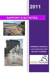 Bilan d'activités 2011 - Belfort Tourisme