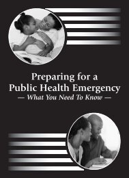 Preparing for a Public Health Emergency - State of Michigan