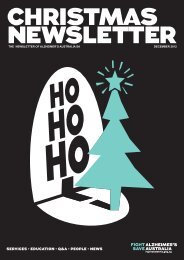 Newsletter December 2012 - Alzheimer's Australia