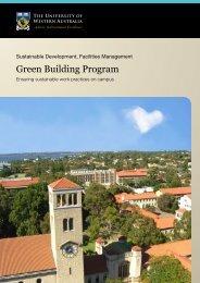 Green Building Program - The University of Western Australia