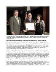 Chris Marchant Received NASA Certificate of Appreciation June 24 ...