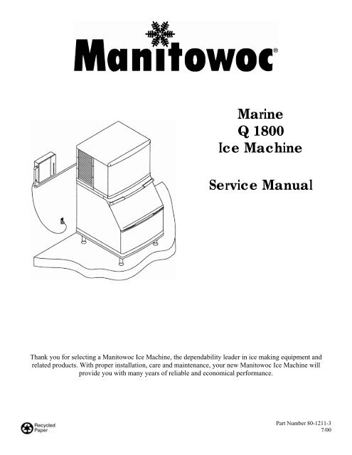 Marine Q 1800 Ice Machine Service Manual - Manitowoc Ice Inc on manitowoc q450, walk in cooler wiring diagrams, pepsi machine wiring diagrams, hoshizaki wiring diagrams, copeland wiring diagrams, ice box wiring diagrams, compressor wiring diagrams, manitowoc ice machines filters cg-5 20s, ice maker wiring diagrams,