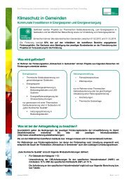 Infoblatt zum Klimaschutz in Gemeinden - Kommunalkredit Public ...