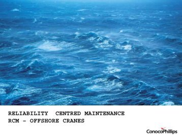 Reliability Centred Maintenance – Offshore Cranes