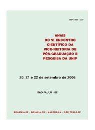 20, 21 e 22 de setembro de 2006 SÃO PAULO - SP ANAIS ... - Unip
